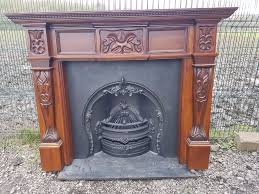 125 cast iron fireplace surround victorian fire horseshoe insert arch arched old solid gany