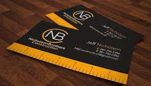 Microsoft Business Cards Templates Construction Business Cards Templates 2495