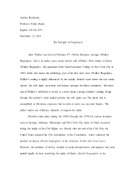 alice walker essay complete alice walker essay 3 complete ayesha bordiwala professor trisha brady english 201 sec 074 12 2014 the strength of