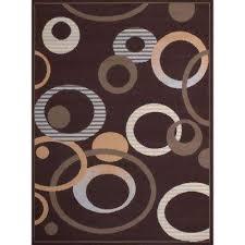 hip hop chocolate 5 ft x 7 ft indoor area rug