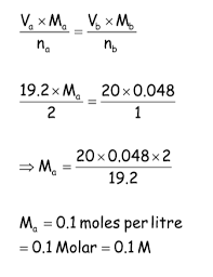 Titration Formula Finding The Concentration Of Hydrochloric Acid Studynotes Ie