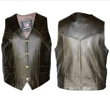 allstate leather inc men s retro brown leather vest