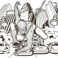 Small Picture Spider Man Coloring Page Pictures Pages Kids Spiderman adult