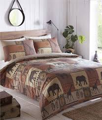 DUVET COVER BED SETS - New terracotta african safari animal quilt ... & DUVET-COVER-BED-SETS-New-terracotta-african-safari- Adamdwight.com