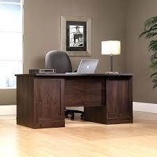 sauder office port executive desk modern in dark alder finish 240