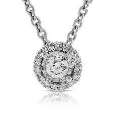 cer diamond halo pendant 14k