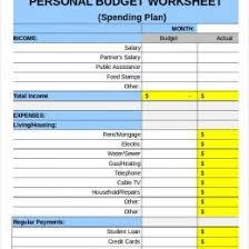 Sample Family Budget Plan Sample Household Budget Worksheet Household Budget