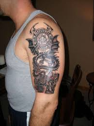 Dragon Firefighter Tattoo Design On Biceps Tattoos Book 65000