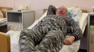 Spectacled Old Man On Nosp Bed Stock Footage   Video Of Caucasian, Glasses:  103156482