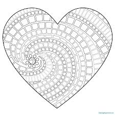 interesting simple heart mandala coloring pages for kids