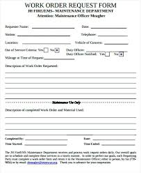 Service Call Form Template Printable Maintenance Work Order Forms Form Template Print Request