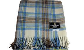 scottish large tartan travel rug blanket throw 100 new wool 14 tartans