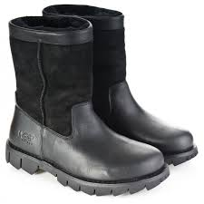 for ugg black leather beacon mens boot f3935 f9a1e