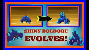 Shiny Boldore Evolves