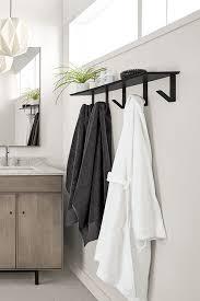 bend wall shelf with hooks modern