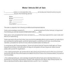 Bill Of Sale Word Template Unique Free Bill Of Sale Motor Vehicle Template Car Agreement Best For