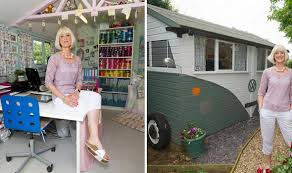 outside office shed. Jo Gosling Outside Her VW-inspired Office Shed