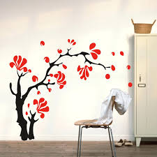 large cherry blossom wall decal large wall murals home decor image of wall  mural decals wall