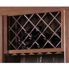 Omega National Cabinet Mounted Wine Bottle Lattice with Inverted Edges,  Cherry, 24