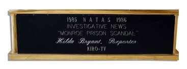 Lot Detail - Emmy Award Presented to Washington State Investigative  Reporter Hilda Bryant of KIRO-TV in 1985-1986 -- For Her Expose on the  ''Monroe Prison Scandal''