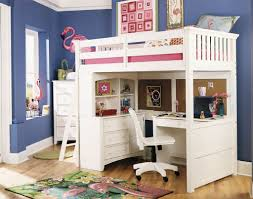 bunk bed with desk. Astonishing Design Of The Blue Wall Ideass Added With White Kids Loft Bed Desk Bunk