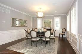Dining Room Wainscoting Traditional With Chair High Ceiling Hardwood