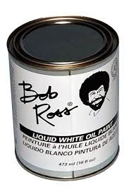 bob ross liquid white oil paint 473ml