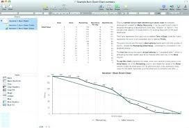 Microsoft Excel Burndown Chart Template Project Burndown Chart Template Hindhaugh Me