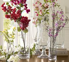 amazing how to decorate a glass vase voluminous clear pottery barn with ribbon for christma glitter