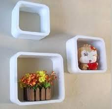 Floating Cube Shelves Uk Set of 100 Floating Cube Wall Shelves by Enpee White Amazoncouk 32