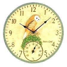 terracotta garden thermometer outdoor garden clocks barn owl clock thermometer terracotta garden clock thermometer