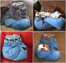 view in gallery pet pillow from old jeans wonderfuldiy