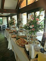 reception buffet table