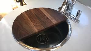 black walnut sink cover 3 4 round