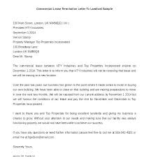 Landlord Termination Letters Lease Letter Template Tenant Ending