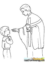 Eucharist Coloring Pages First Communion Coloring Pages Coloring