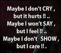 I Care About You Quotes Inspiration Mayable I Don't Cry But It Hurts Maybe I Won't Say But If Feel