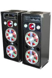 speakers with lights. party speaker system - sp-61bt dolphin audio active/passive pair speakers with lights
