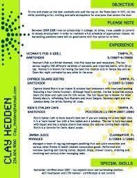 Creative Bartender Resume Template Http Www Resumecareer Info
