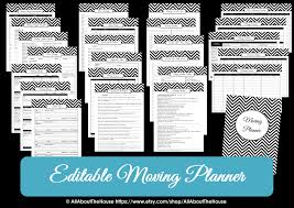 Free Printable Moving Checklist Moving Planner Editable All About Planners