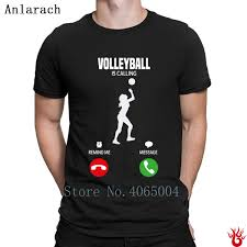 Men S Volleyball T Shirt Designs Us 13 9 12 Off Volleyballs Is Calling T Shirt Slim Design O Neck Clothes Men Tshirt 2018 100 Cotton Fit Breathable Hip Hop In T Shirts From Mens