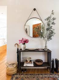 Round Entry Way Table Choosing A Console Table And Mirror For An Entryway Making It Lovely
