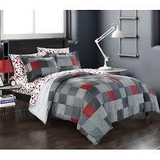 American Original Geo Blocks Bed in a Bag Bedding Comforter Set ...