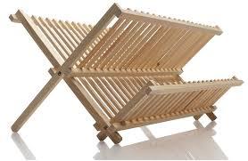 Wood Dish Drying Rack