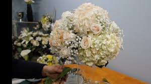 tall hydrangea centerpieces. Simple Centerpieces How To Make A Tall Vase Centerpiece With White Hydrangea And Roses For Centerpieces G