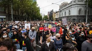 Protesters rally in los angeles on may 30, to protest police brutality in the wake of the killing. Australia Thousands March In Invasion Day Protests Amid Covid Photos Axios