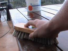 clean wooden outdoor furniture you