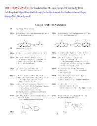 Digital Systems Design Using Verilog Solution E7bc598 Fundamentals Of Logic Design Roth Solution Manual
