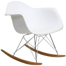 contemporary rocking chair. Beautiful Chair Modway Molded Plastic Armchair Rocker In White Inside Contemporary Rocking Chair N