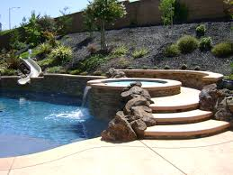 Pool Landscape Design Landscaping Rocklin Swimming Poolspa Design Yard Service With